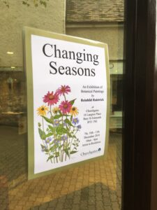 Changing Seasons – An exhibition of Botanical paintings at Churchgates
